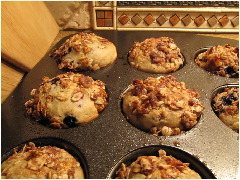Blueberry Cinnamon Crunch Muffins - Ohh May Recipes
