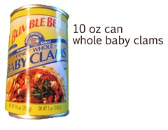 10 oz baby clams ohhmay