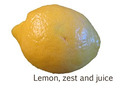 lemon zest and juice ohhmay