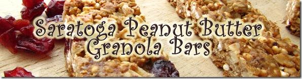 Saratoga Peanut Butter Granola Bars