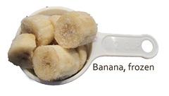frozen banana cubes